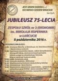 Jubileusz 75-lecia ZS nr 3 im. Mikołaja Kopernika wŁańcucie