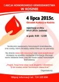 Akcja poboru krwi wKosinie